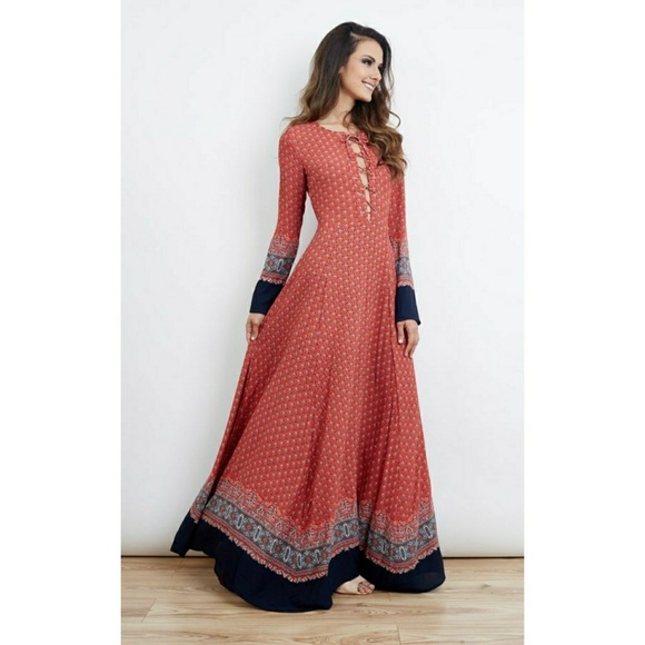 2ebd5947ae Glamorous Dresses | Navy Border Maxi Dress | Poshmark